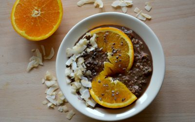 Overnight oats: Courgette met sinaasappel en cacao