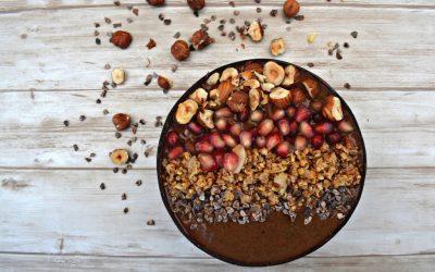 Herfstige smoothie bowl: Chocolade met hazelnoot