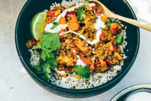 Gezond recept voor vegan curry