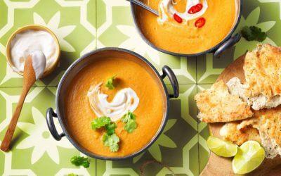 TASTY & EASY: Indiase maaltijdsoep met wortelen en linzen